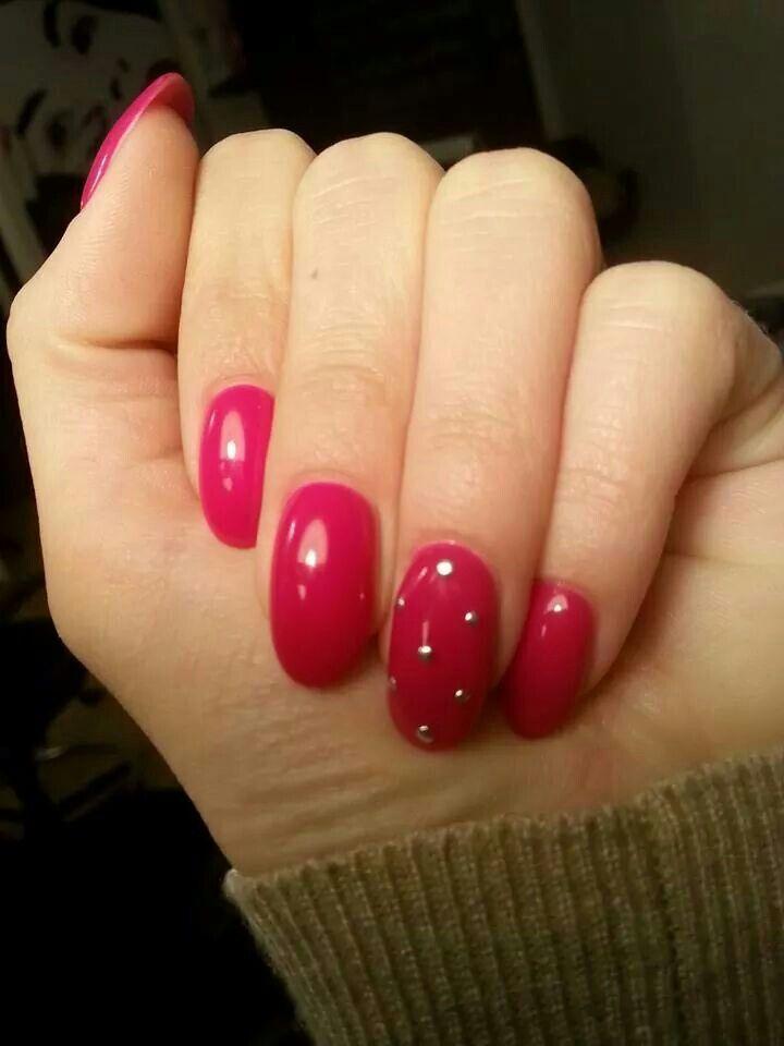 #nails#unghie#borchie#fucsia#rosso#tonde#mandorla#fixelnailslaboratory