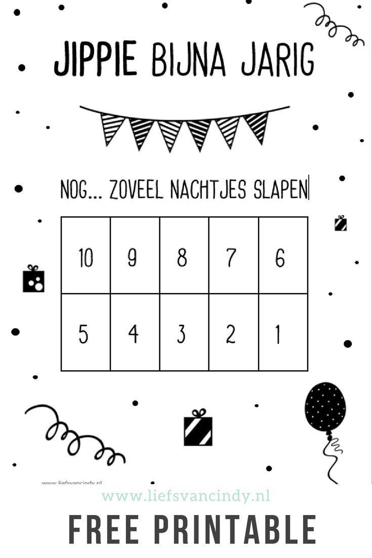 Pin Van Karin Vonhof Op Verjaardag Verjaardag Aftellen Verjaardag Aftelkalender