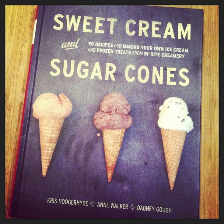 Homemade chocolate ice cream, Cream and sugar and Sugar cones on ...