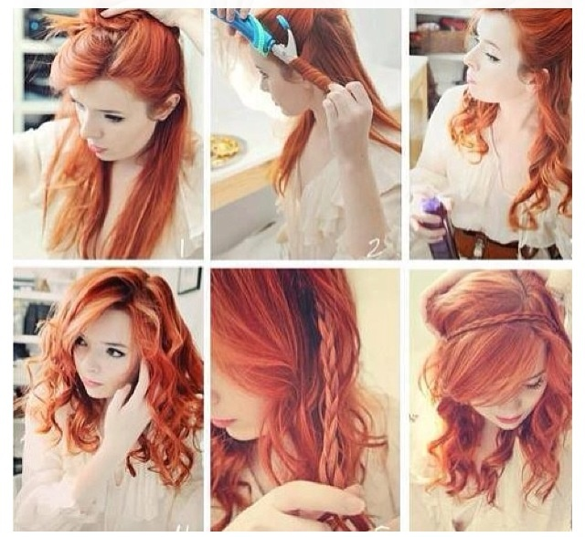 Fairy hair - step-by-step. The beautiful red hair doesn't hurt!  A redhead, just like Shea from The WishKeeper (though Shea wouldn't spend so much on her hair):  http://amzn.to/1hBFi4X