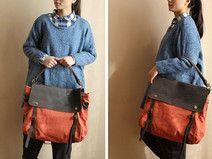 Casual Leather Canvas Bag,Laptop Bag, Shoulder Bag