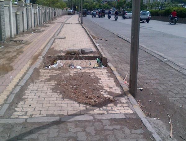 #footpath #Pune