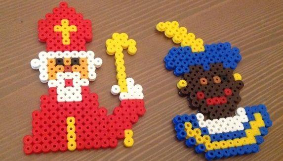 strijkkralen Sinterklaas. Op de site vind je nog meer leuke patronen!