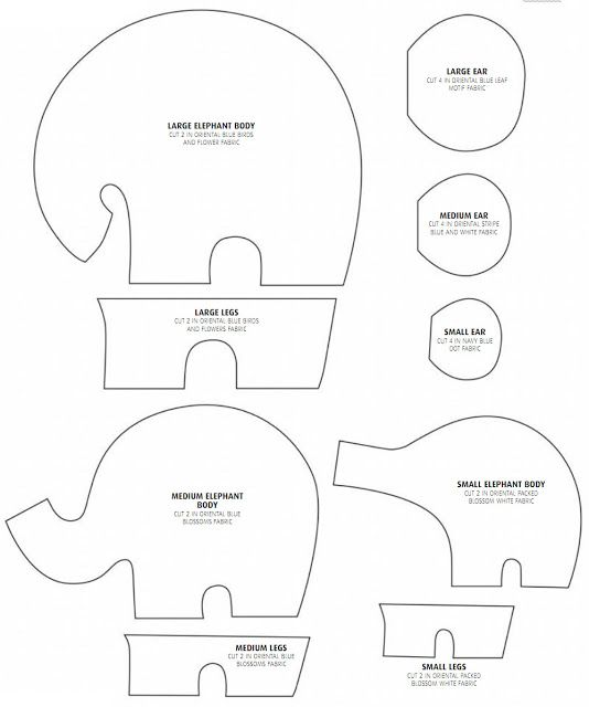 How to make the elephants: