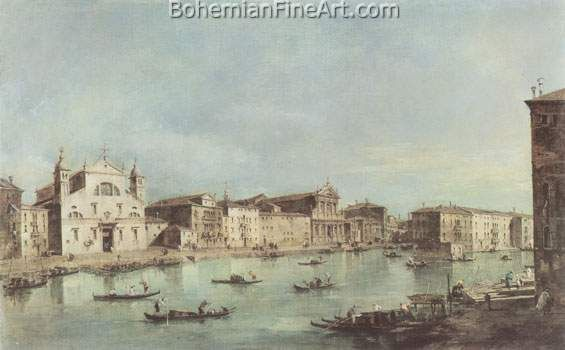 Francesco Guardi, View of the Grand Canal Fine Art Reproduction Oil Painting