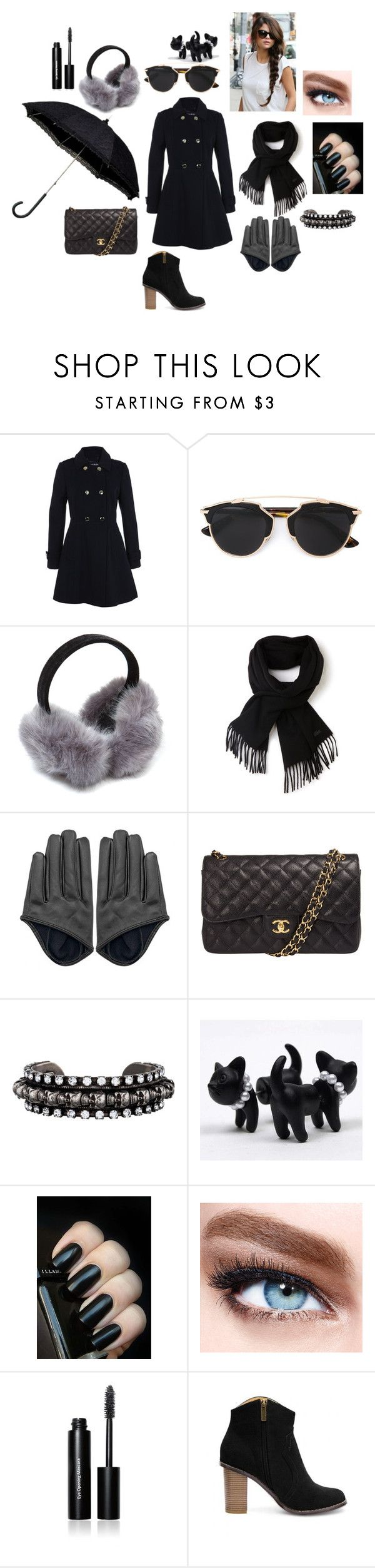 """""""Sem título #600"""" by percabeth-chrisse-thalico on Polyvore featuring moda, Miss Selfridge, Christian Dior, Lacoste, Chanel, DANNIJO, Maybelline, Bobbi Brown Cosmetics, women's clothing e women's fashion"""