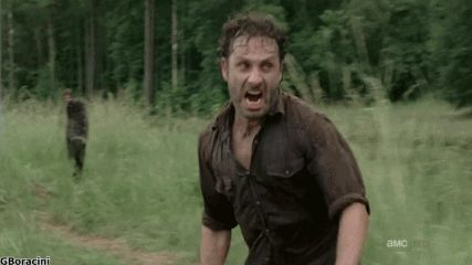 haters gonna hate the walking dead gif