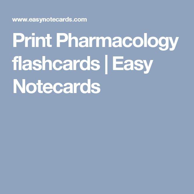 print pharmacology flashcards