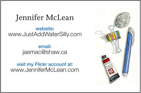 the back of your Moo.com business cards with your particulars.