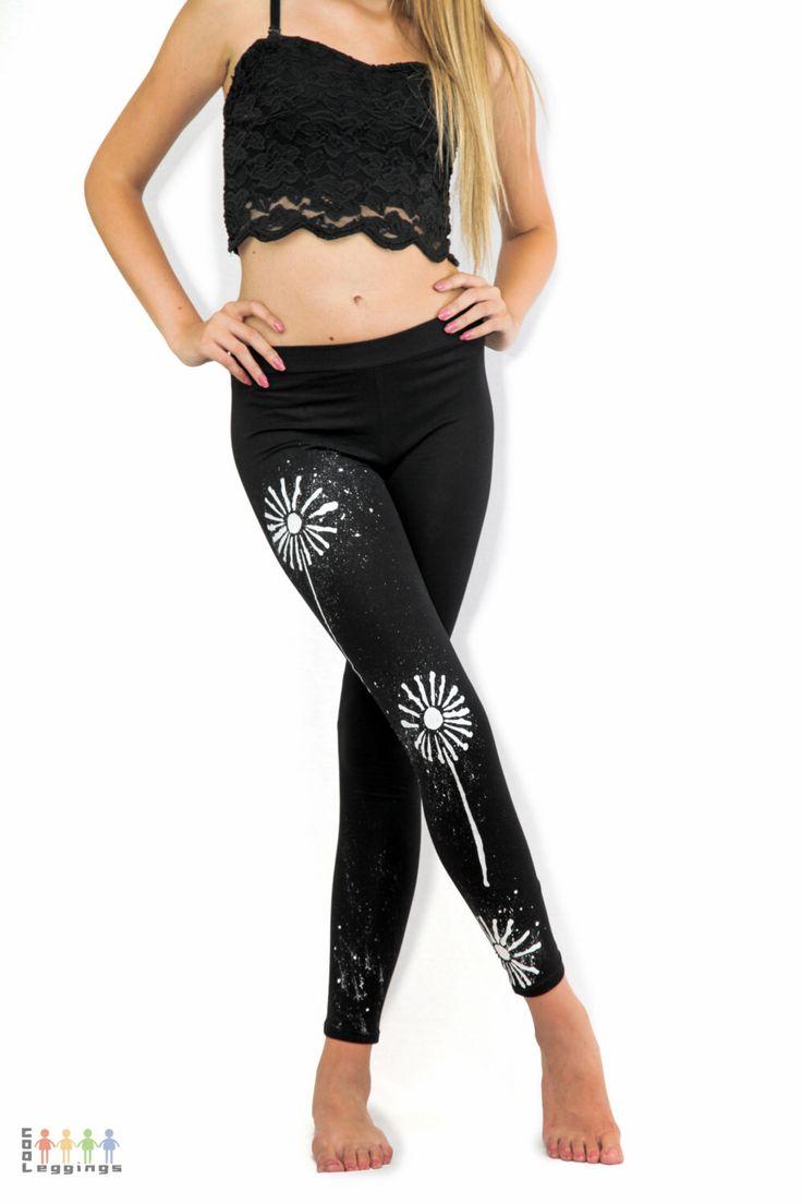 Womens yoga leggings, Handmade cotton leggings, Floral leggings, Yoga leggings, Yoga pants, Hand painted leggings, Workout pants women by COOLLeggings on Etsy https://www.etsy.com/listing/192511960/womens-yoga-leggings-handmade-cotton