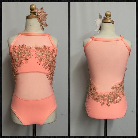 New Coral Leotard ~ Stunning Color …