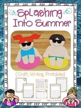 Splashing Into Summer! Summer kids craftivity.