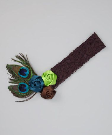 Take a look at this Blue Peacock Feather Headband by Zuzu's Petals on #zulily today!