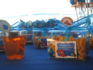 Favors and Fixings Party Blog: Finding Nemo Birthday Party Favors: goldfish and