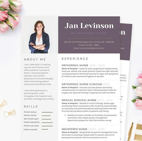 Nurse MS Word Resume Template Pkg  @creativework247