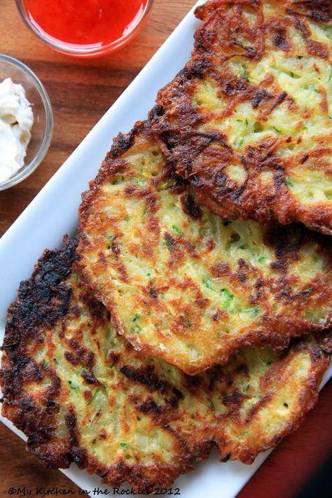 Potato Zucchini Pancakes Colorado Denver Foodblog German recipes My Kitchen in the Rockies   A Denver, Colorado Food Blog