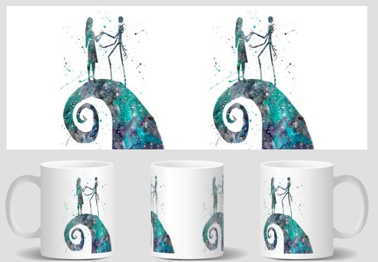 Jack Skellington and Sally Nightmare Before Christmas mugs porcelain tea birthday gifts coffee  ceramic mugen