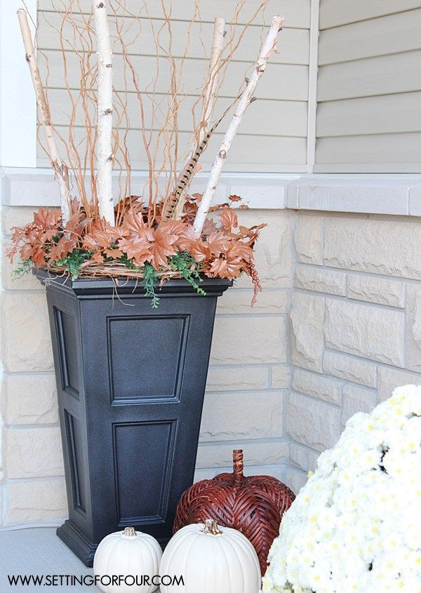 Foyer Interior Urn : Fall home tour part one bhg ger contributor