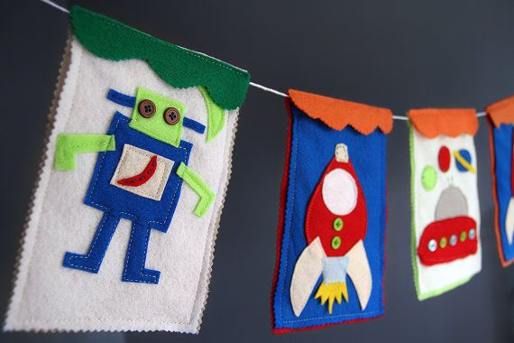 Aliens Nursery Banner Space Nursery Baby by HouseOfLaylayt on Etsy