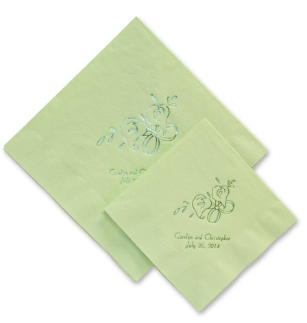 Custom handwriting paper cocktail napkins