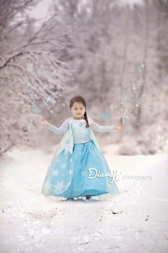 Elsa Frozen themed photo shoot