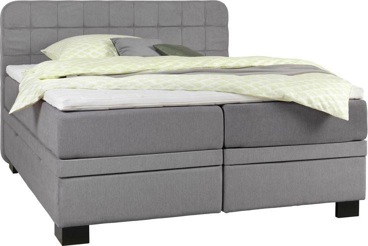 Boxspringbett mit Bettkasten: ein praktisches Schlafmöbel in Hellgrau