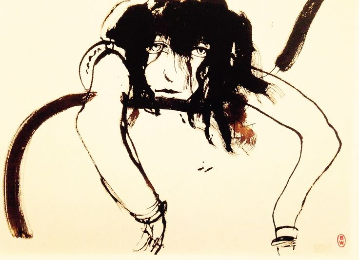 Brett Whitely  Wendy Drunk 11PM 1983 Brush and ink on paper 74 x 103.4 cm