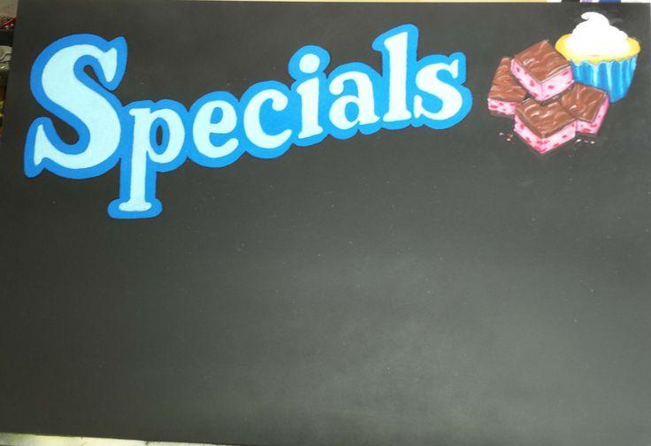 Specials Blackboard Menu for a local Coffee Shop