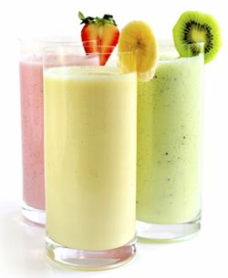 Gluten-Free, Dairy-Free Smoothie Recipes - 1. Place ingredients from all three columns (see chart below) of smoothie flavor of your choice in a blender and process until smooth.