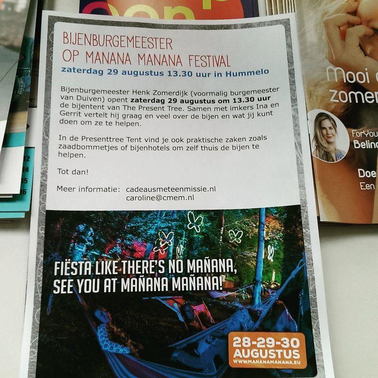Zaterdag 28 augustus opent bijenburgemeester Henk Zomerdijk officieel onze bijentent