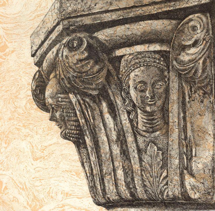Figures of Virtue etching Artist Sandi Rigby