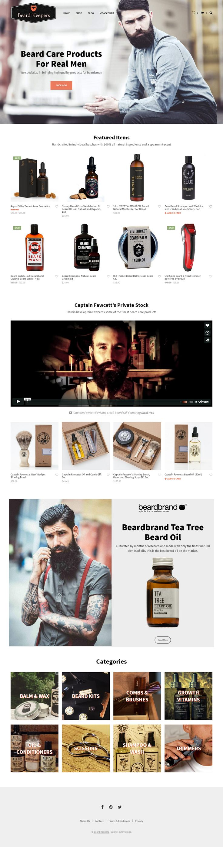 beardkeepers.com, created with Shopkeeper WP theme http://themeforest.net/item/shopkeeper-responsive-wordpress-theme/9553045?&utm_source=pinterest.com&utm_medium=social&utm_content=beard-keepers&utm_campaign=showcase #wordpress #bestsites #webdesign #beard #hipster #wordpresstheme #design