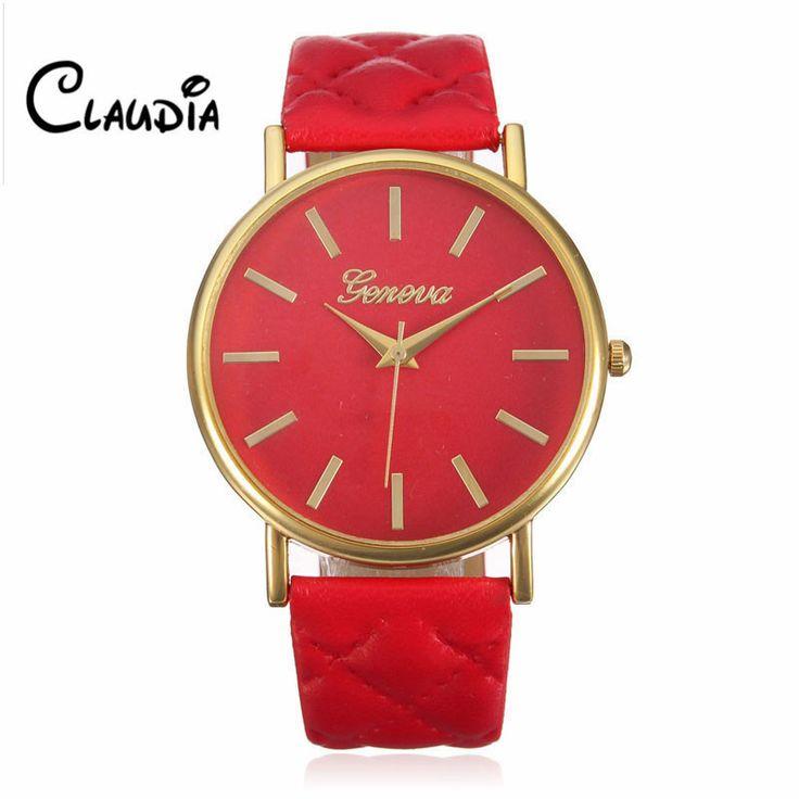 Relojes Mujer 2017 Fashion Women Casual Geneva Roman Leather Band Analog Quartz Wrist Watch Hot Sale Bayan Saat Relogio Feminino