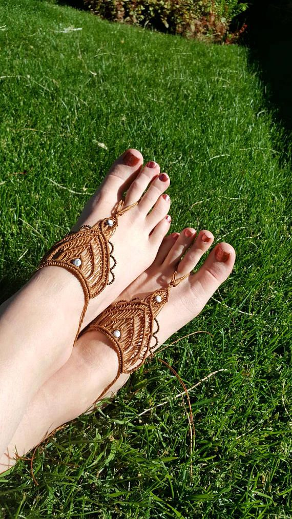 Check out this item in my Etsy shop https://www.etsy.com/ca/listing/539918619/strappy-barefoot-sandal-foot-jewelry