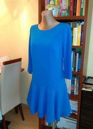 Kup mój przedmiot na #vintedpl http://www.vinted.pl/damska-odziez/krotkie-sukienki/12810769-niebieska-sukienka-tunika-z-falbana