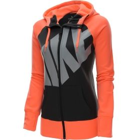 Beat the cold weather blues wearing your Nike® Women's All Time Full Zip Hoodie. This zip-up features a soft brushed interior that is cozy for lounging, while Therma-FIT® fabric insulates and traps in heat when heading out into cool temperatures. Ribbed detailing at the cuffs and hem enhances your fit and blocks out the elements when on the go. Stay prepared this season with your Nike® Women's' All Time Full Zip Hoodie.