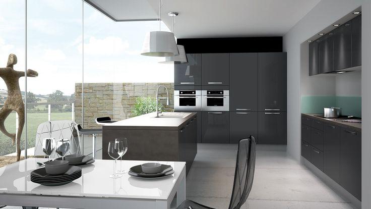 Idee Deco Chambre Gris Et Rose : Cuisine équipée Petilla+  Style Design  Disponible en 6 Coloris