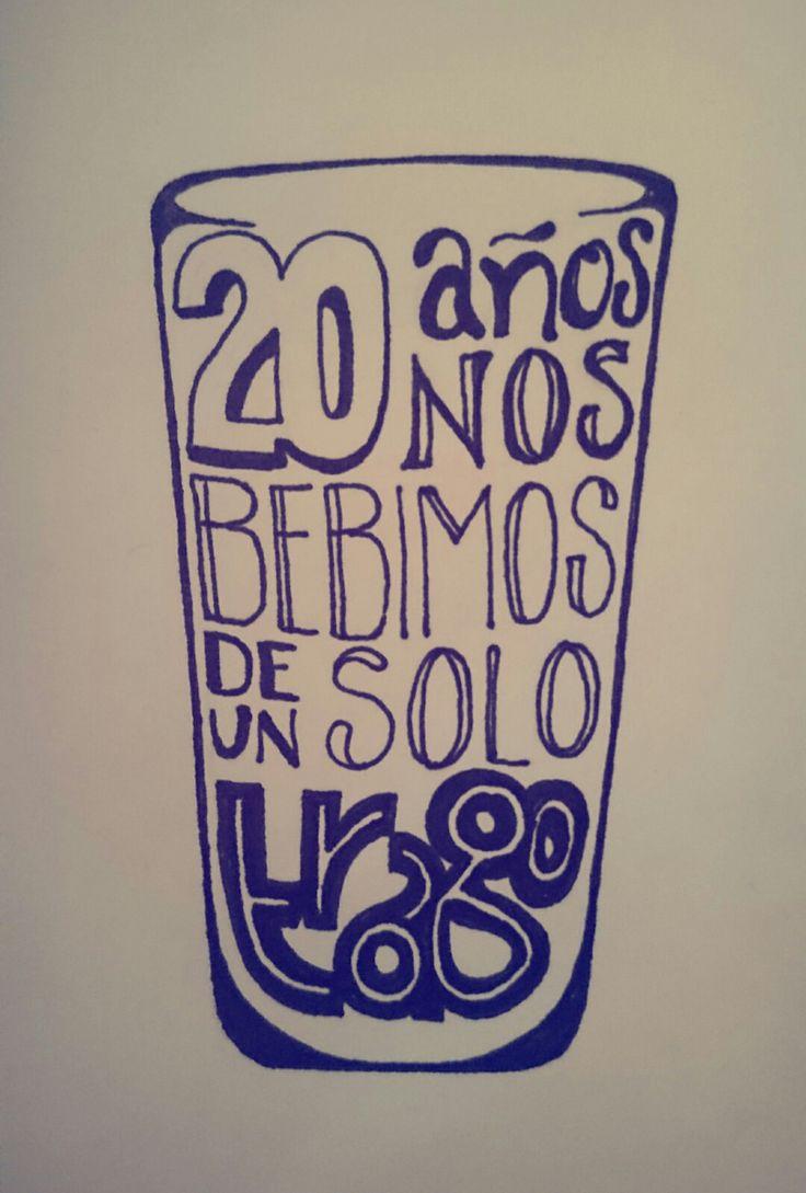 20 años nos bebimos de un solo trago #20años #trago #alejandro #alejandrosanz