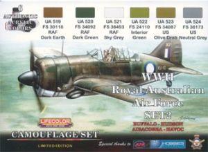 Set de colores camuflaje LifeColor XS02 WII Royal Australian Air Force SET2