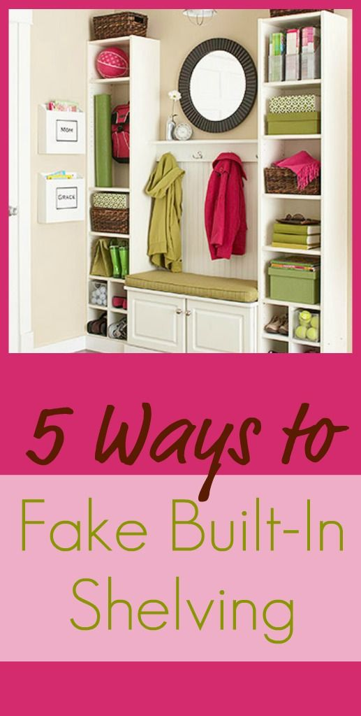 Shelving ideas...for when we move: Fake Built In, Diy Built In, Built Ins, Ikea Shelves, Storage Organizations, Mud Rooms, Closet, Great Ideas, Built In Shelves