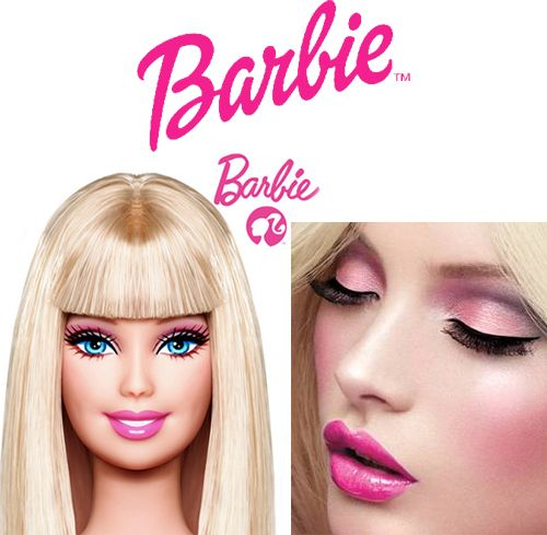 Halloween barbie makeup. No tutorial. Just a picture from MAC.