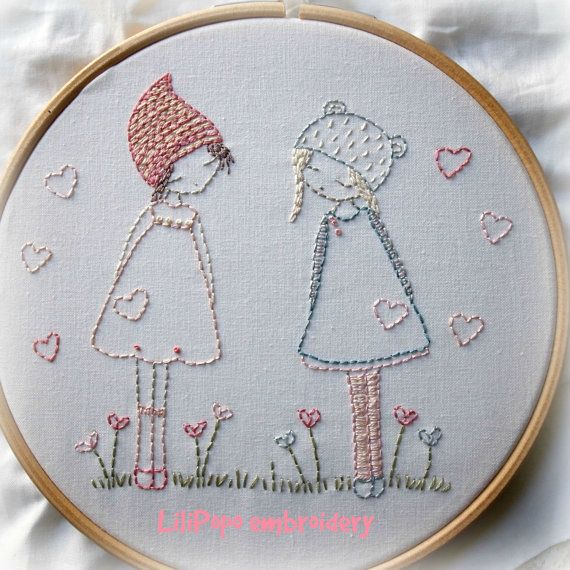 This lovely little kit contains all you need to stitch this sweet and simple embroidery along with instructions on how to frame the finished stitchery in the hoop. This kit is perfect for a beginner stitcher.  Perfect for hanging in a childs room or making into a sweet little cushion  Kit contents:  195gsm cotton piece measuring about 25cm x 25cm printed with the image for embroidering (finished image size 13cm x 16cm) 10 colours of embroidery thread instructions for sewing no.7 crewel…