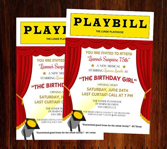 22 Best Images About Broadway Party Theme On Pinterest