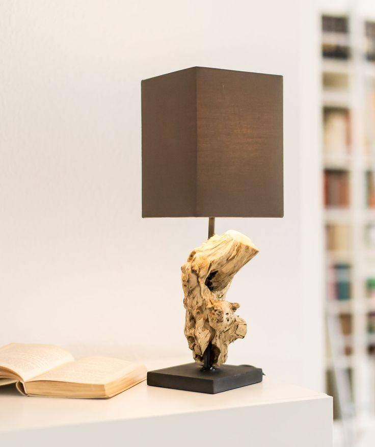 Fuß Aus Gebleichtem Holz ✓ Asiatisches Treibholz ✓ Bequem Nach Hause  Liefern Lassen ✓ Viele Weitere Tischlampen Bei Relaxdays!