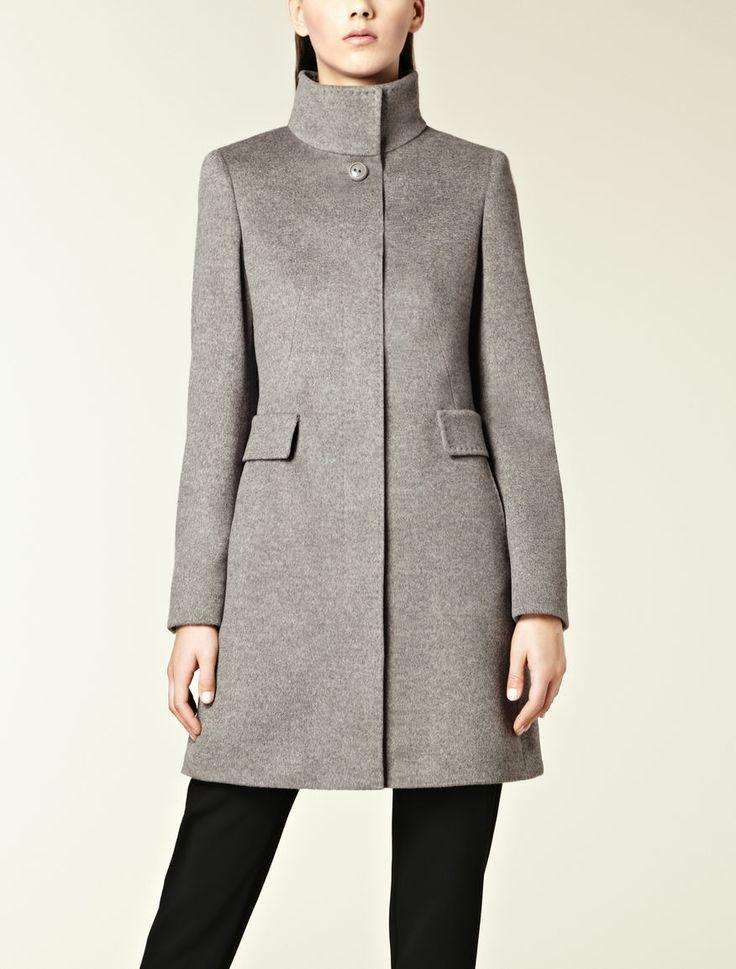 Cappotto in puro cachemire con cintura, argento - Max Mara Italia