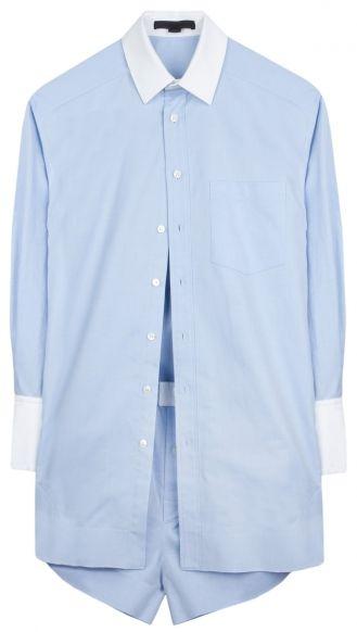 Alexander Wang shirt with boxer #lightblue #blue