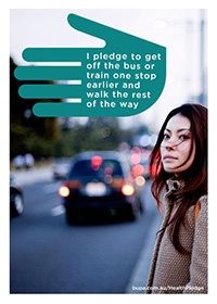 I pledge to get off the bus or train one stop earlier and walk the rest of the way @BupaAustralia #health #pledge #healthyhabits #publictransport #commute