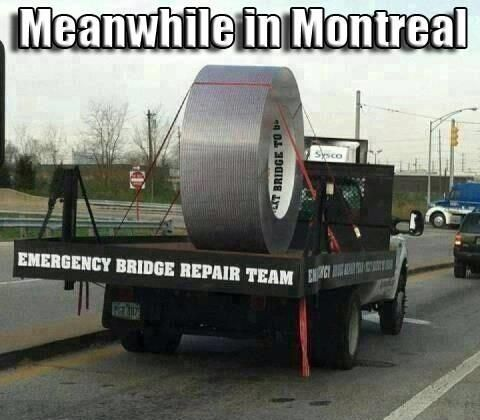 Harper just announced his infrastructure plan; endless ad spending & some duct tape. #cdnpoli #elxn42