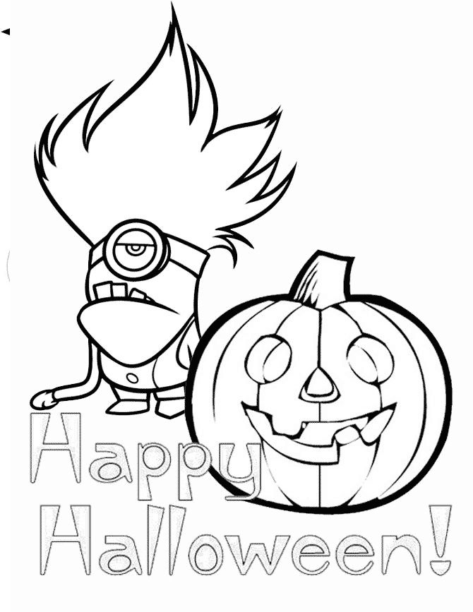 Download Minion And Pumpkin Coloring Page | Minion coloring pages, Pumpkin coloring pages, Coloring pages