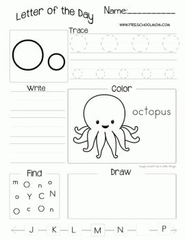 Letter of the Day Worksheets (Free!)